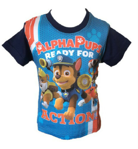 Tshirt Sizes 3 4 5 6 7 8 NEW OFFICIAL PAW PATROL Childrens Kids Top