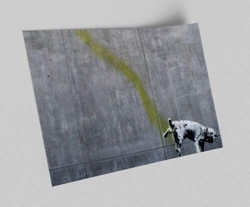 ACEO Banksy Pissing Dog Graffiti Street Art Canvas Giclee Print