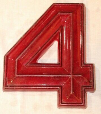 """Vintage 3D Red Theater Marquee Sign Letter /""""X/"""" 8/"""" x 10/"""" x 1-1//4/"""""""