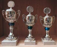 3er Serie Henkel Pokale 40/36/34cm mit Gravur + Emblem #HK182 (Pokale Medaillen)