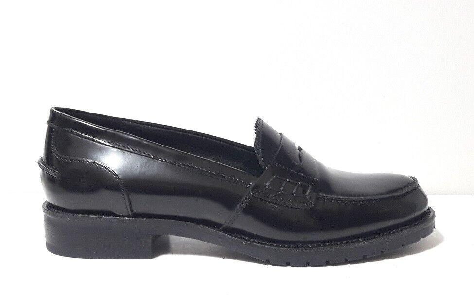 MOCASSINI zapatos mujer MALLY 5424 PELLE ABRASIVATA negro FONDO FONDO FONDO GOMMA MADE ITALY  Seleccione de las marcas más nuevas como