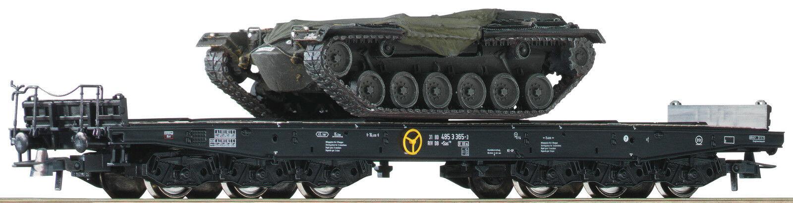 76161 - Roco 2 piece set heavy duty flat wagons, DB, HO