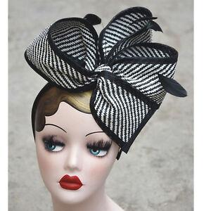 Large-Stripe-Aliceband-Fascinator-Aliceband-Headband-Hat-Fascinator-T163