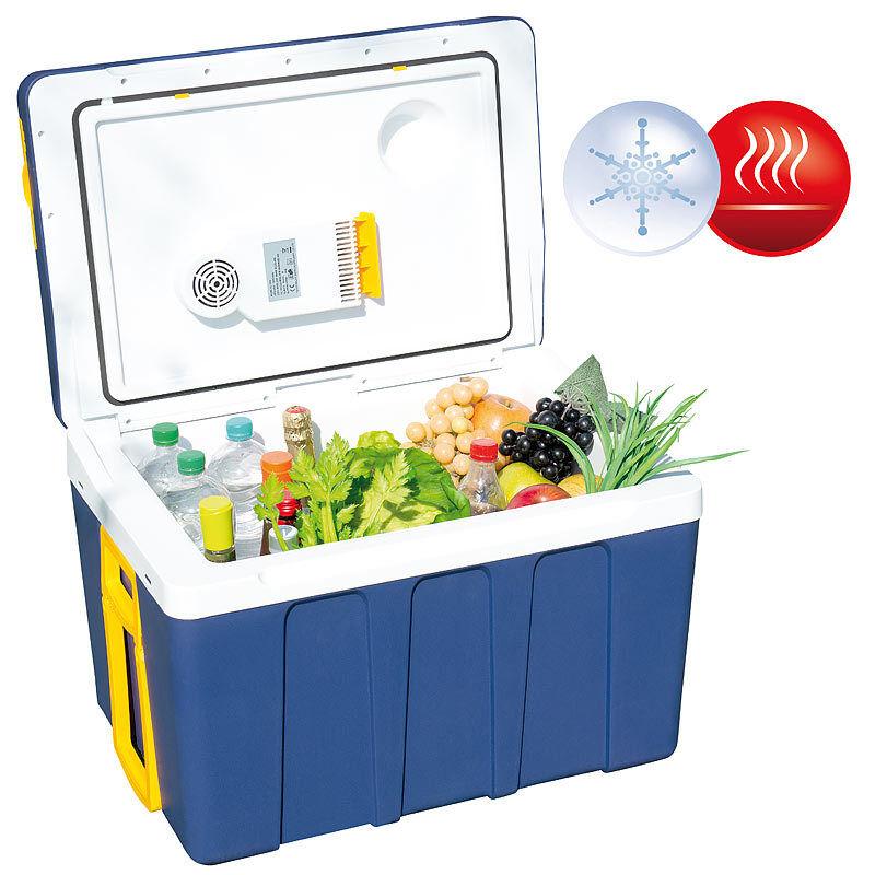 Kühlbox: Thermoelektrische XXL-Trolley-Kühl- & Wärmebox, 12/24 & 230V, 50 Liter
