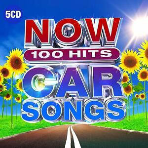 NOW-100-HITS-CAR-SONGS-5-CD-Various-Artists-New-Release-July-12th-2019