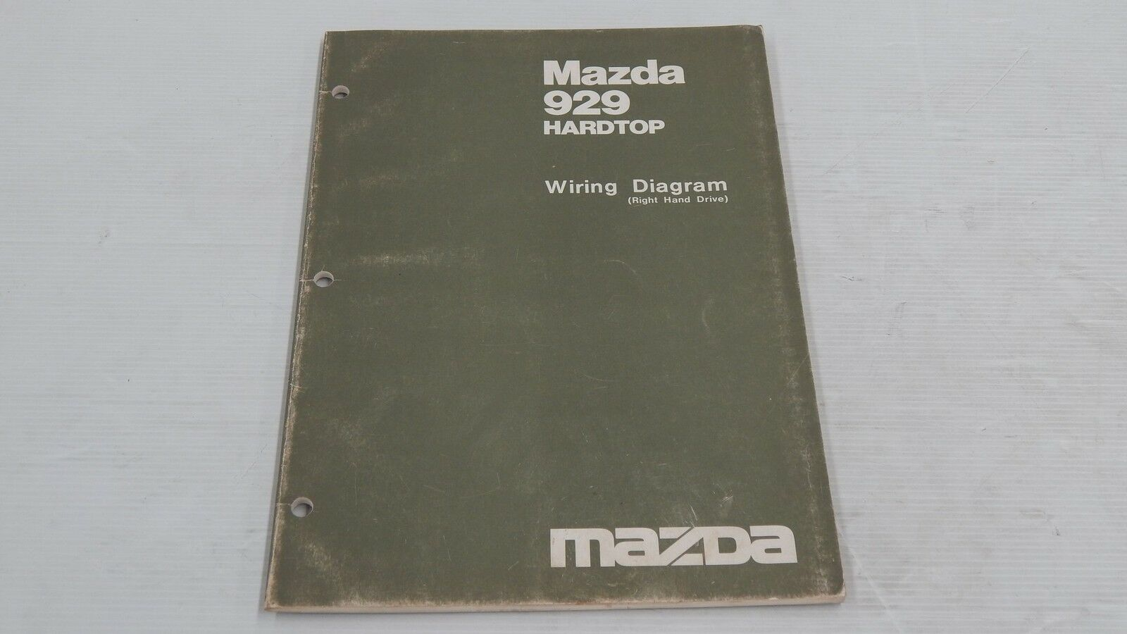 Enjoyable Mazda 929 Hard Top Right Hand Drive Rhd Wiring Book Original Diagram Wiring Database Numdin4X4Andersnl