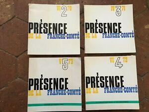 Rivista Topografico Presenza Della Franche-Comté 4x N° Di 1970 Con 1973