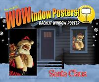 Santa Claus Wow Windows Cover Christmas Party Decoration Ww00182