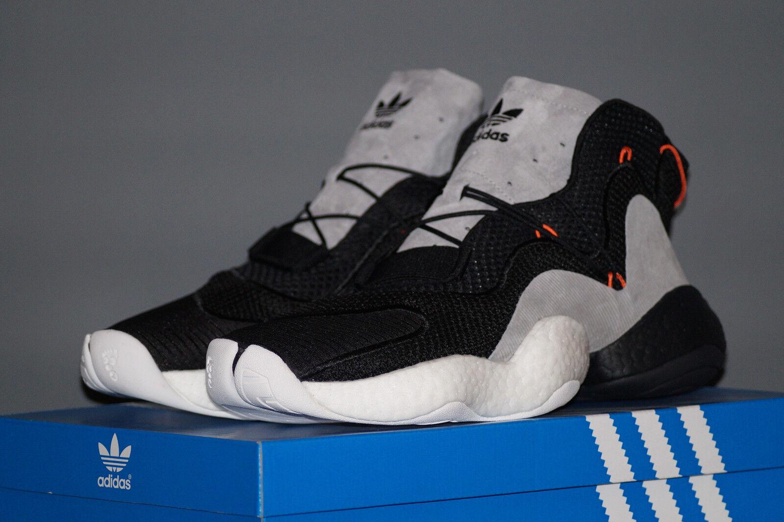 Adidas originals CRAZY BYW EU 45.3 UK 10.5 schwarz grau Turnschuhe Trainers CQ0993