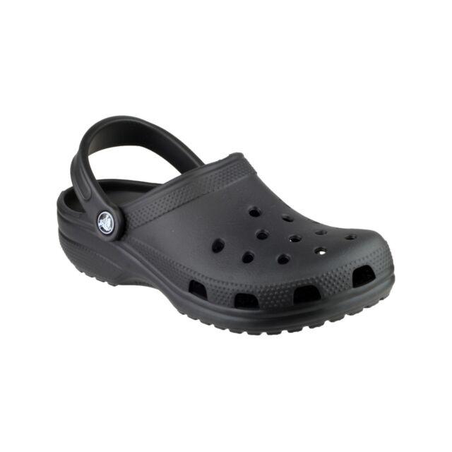 crocs Unisex Classic Clog, Black, 14(M