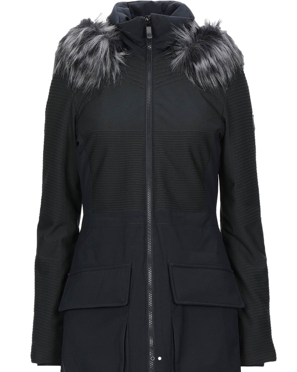 ,155! NWT Rossignol Women's Alexane Parka Coat Jacket Black Made in Italy - M