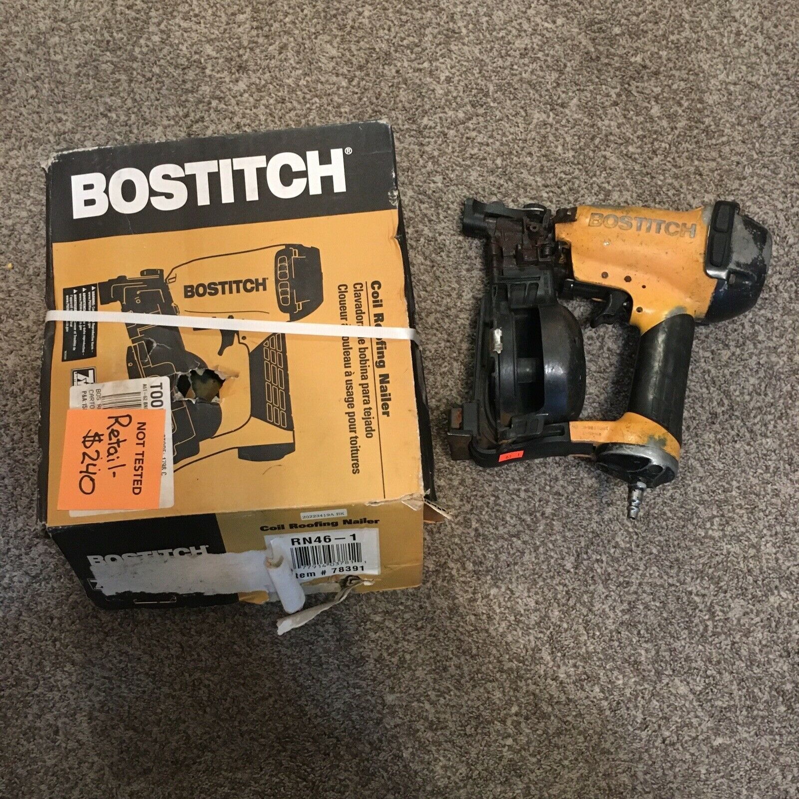 RN461 querea_14 BOSTITCH RN46-1 Coil Roofing Nailer Power Tool