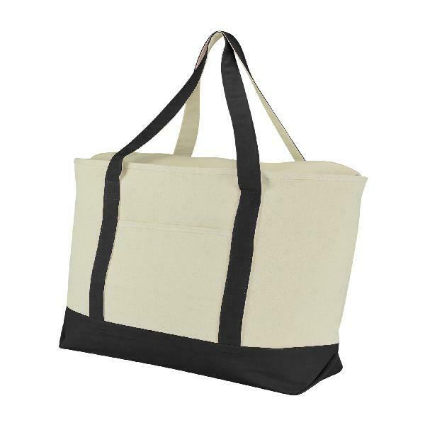 Reusable Grocery Shopping Extra Large Heavy Canvas Boat Tote Bag Beach Totes
