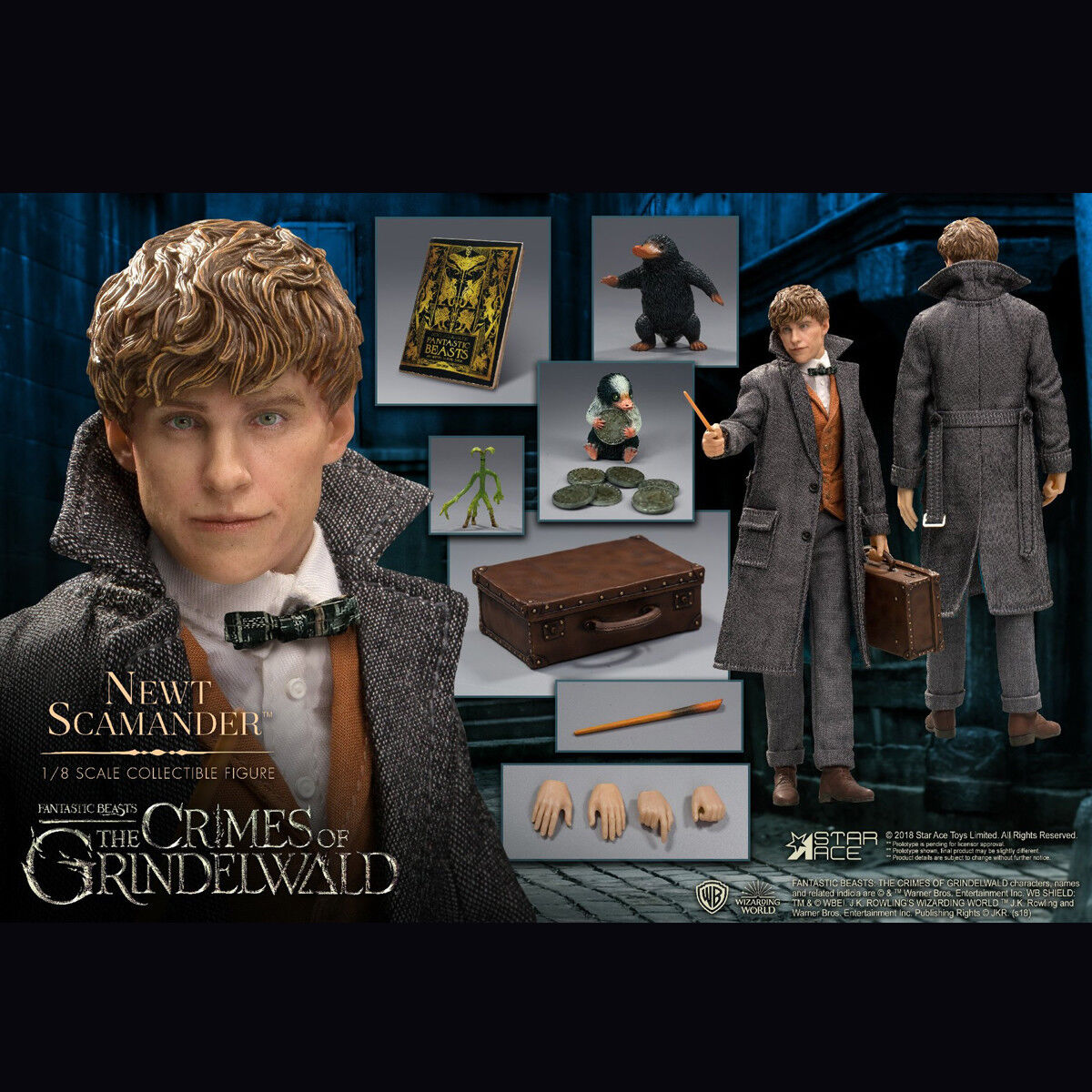 STAR ACE Toys 1/8 SA8012 Newt Scamander Fantastic Beast 2 Figure Collectible New