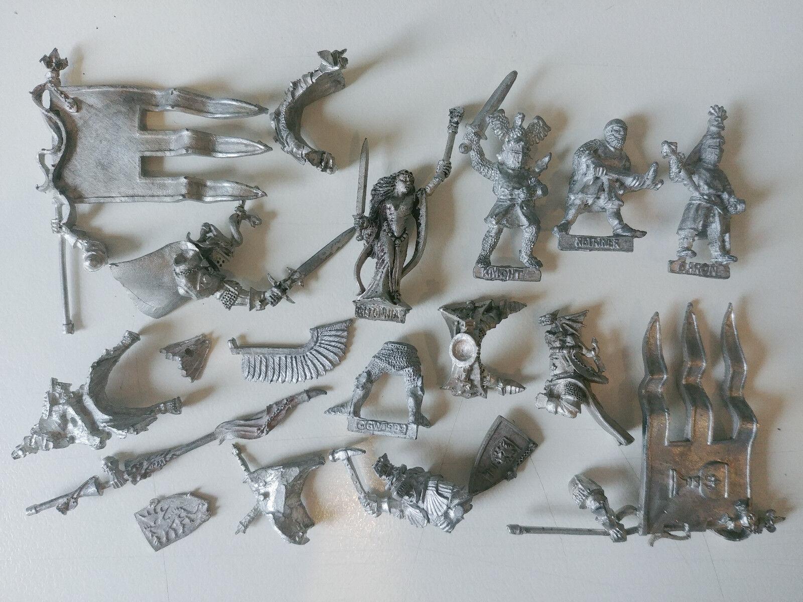 Huge Multi-listing Bretonnian Knights Grail Lord Sorceress Metal models Rare OOP