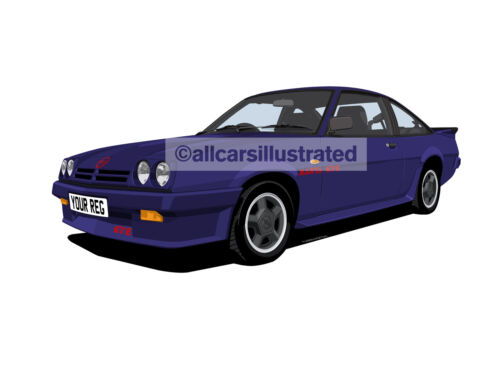 OPEL MANTA GTE EXCLUSIVE CAR ART PRINT PICTURE (SIZE A3). PERSONALISE IT!