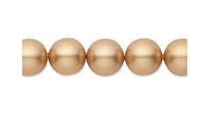 8-Vintage-Gold-Swarovski-Crystal-5810-Pearl-Beads-10MM