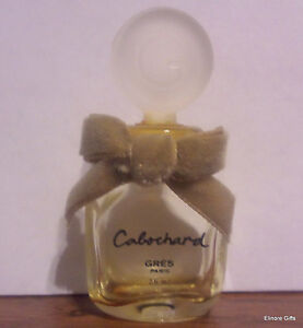 VINTAGE-COLLECTIBLE-PERFUME-BOTTLE-CABOCHARD-GRES-PARIS-WITH-BOW-7-5-ML-25-OZ