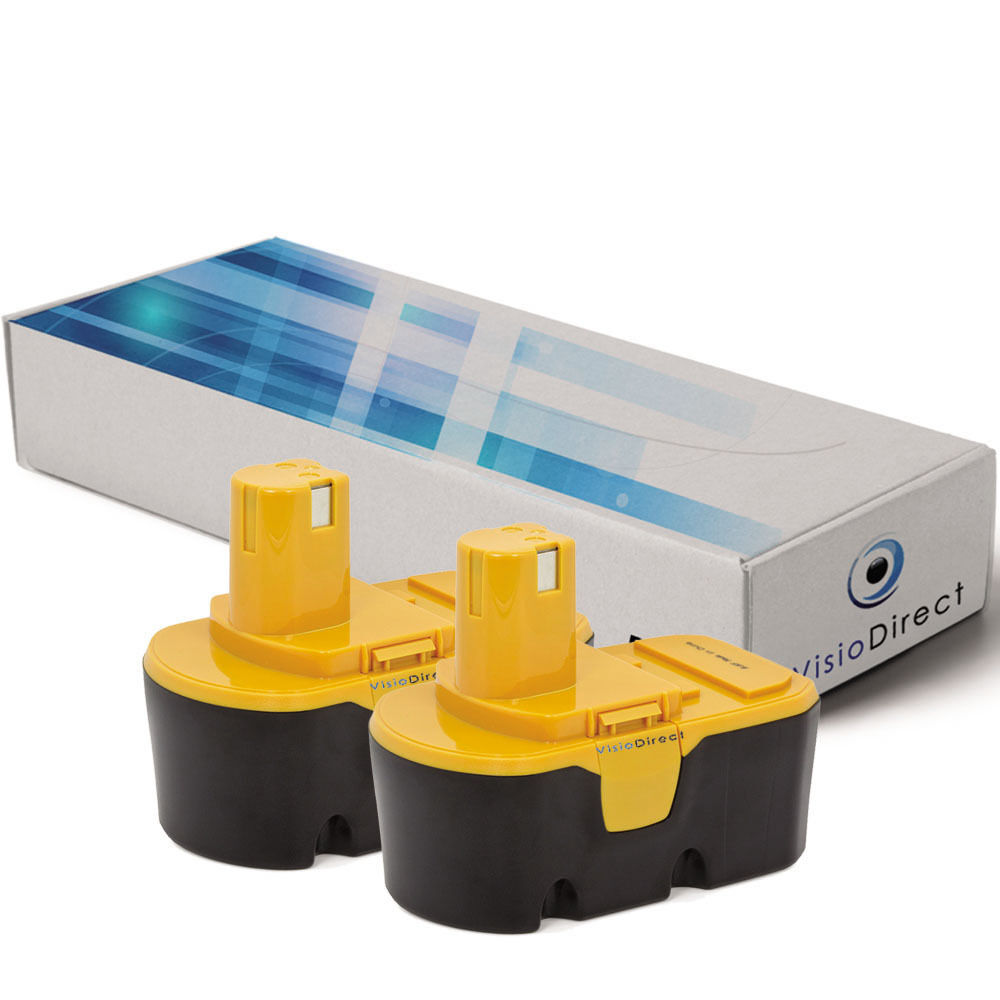 Lot de 2 batteries type BPP1813 pour Ryobi 3000mAh 18V - Société Française -