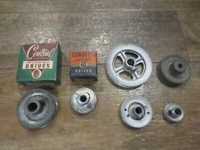 Congress Central Drives Pulley Lot Of 6 V Grooved Some Unbranded