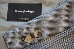 Ermenegildo-Zegna-15milmil15-Gray-Black-Woven-Wool-Sport-Coat-Jacket-Sz-44L