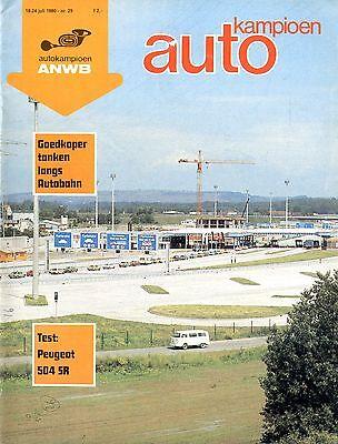 1980 Autokampioen Magazin 29 Test Peugeot 504 Sr NiederlÄndisch