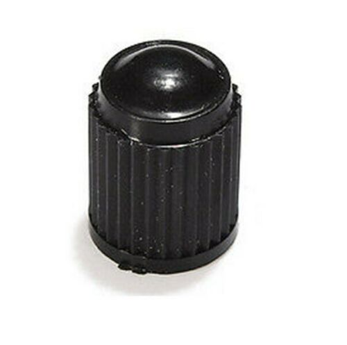 Black 4x DustCaps For Bike AndCar Tyre Air Valves