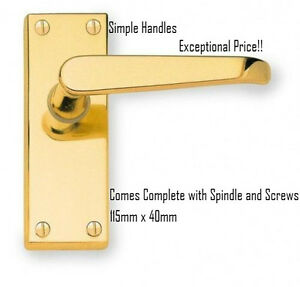 Victorian-Straight-Polished-Brass-Lever-Latch-Door-Handles-Pack-Sizes-of-1-to-8