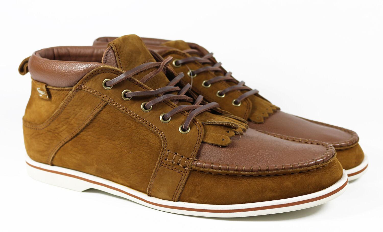 Lacoste Bradford mid DLB calcetines cortos zapatos de cuero marrón talla 40 - 44 nuevo & OVP