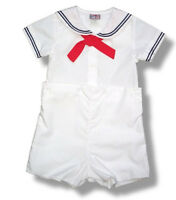 Petit Ami Sailor Suit Boys White Infant Toddler