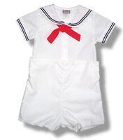 Petit Ami Sailor Suit Boys White Infant Toddler Nautical