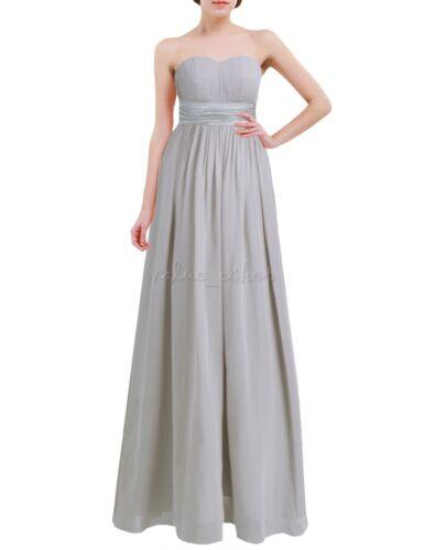 Women Chiffon Formal Wedding Prom Ball Gown Long Evening Party Bridesmaid Dress