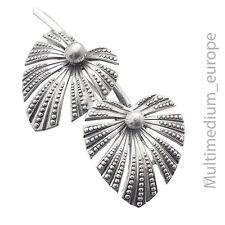 Wilhelm Müller Berlin Art Deco Brosche Silber Blätter silver brooch leaves 30s