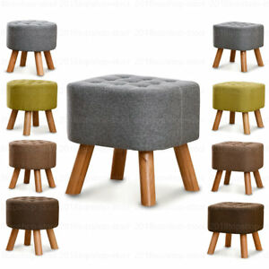Terrific Details About Wood Big Support Ottoman Footstool Footrest Pouffe Padded Chair Seat Stool Andrewgaddart Wooden Chair Designs For Living Room Andrewgaddartcom