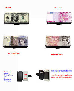 Dollar-Euro-Pound-Money-Inspired-leather-wallet-phone-case-for-iPhone-HTC-Xperia