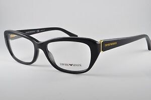 ef4466e6296 Image is loading Emporio-Armani-Eyeglasses-EA-3041-5017-Black-Size-
