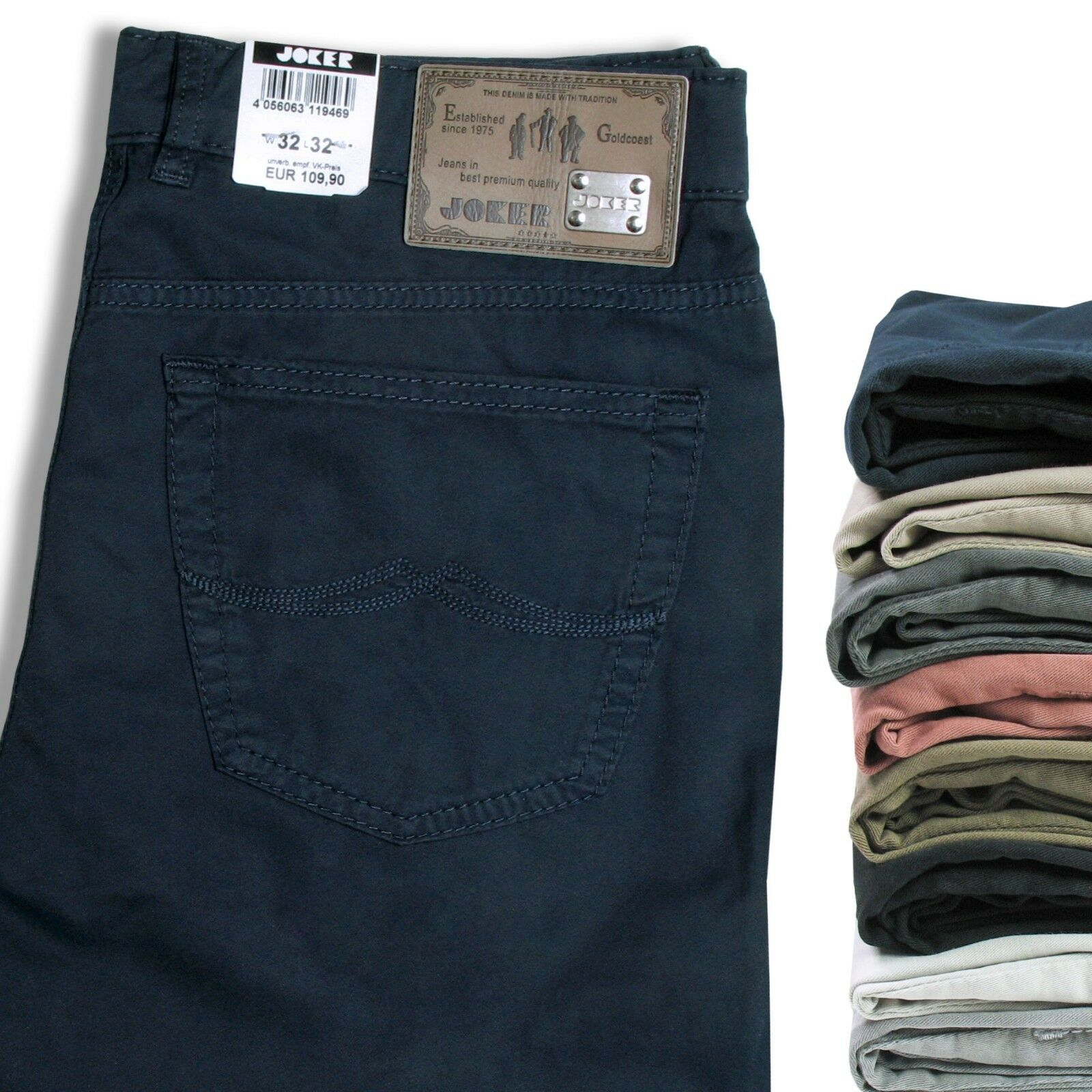 Joker Jeans Men/'s Pants Harlem Walker Summer Colour Selection Cotton Gabardine
