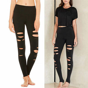 Women's Workout Yoga Fitness Leggings Running Gym Stretch Sports Pants Trousers