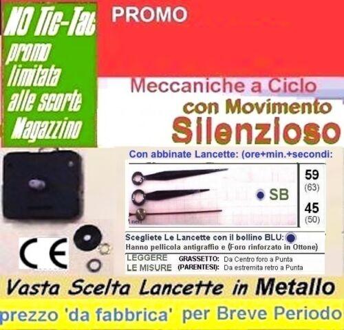 MECCANISMO OROLOGIO B16 Semi Silenzioso Ideale per Camere letto luogh lettura