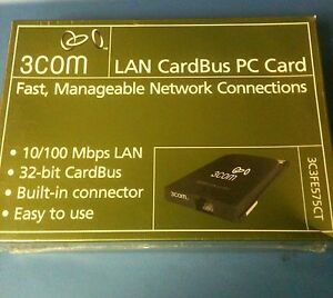 3COM-LAN-CARDBUS-PC-CARD-10-100-LAN-3C3FE575CT-32-BIT-CARDBUS-W-CONNECTOR