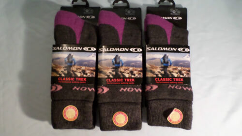 3 Paia Donna SALOMON Merino Wool escursionismo Trek Calzini LOVELY SOFT TOP