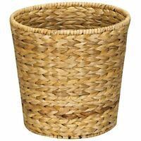 Household Essentials Woven Banana Leaf Round Waste Basket , New, Free Shipping on sale