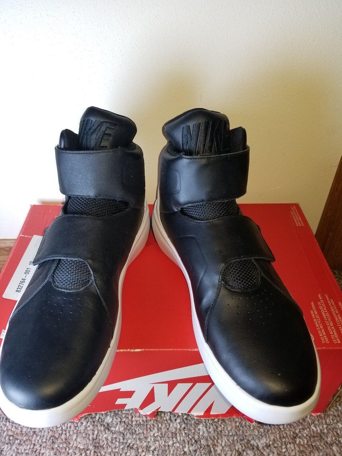Nike  Marxman Men's Basketball Shoes Size 10  BLACK/WHITE  (832764-001)
