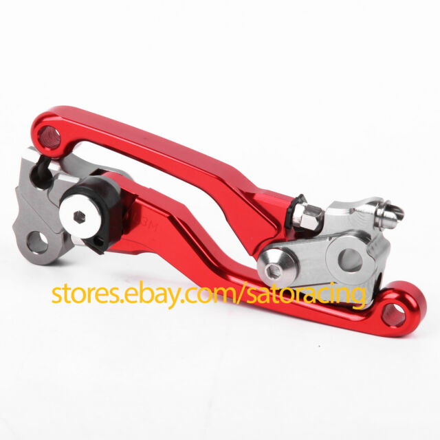 CNC Pivot Brake Clutch Levers For Honda CRF250R CRF450R 2007-2014 Red 08 09 10