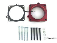 Red Throttle Body Spacer Fit 09-15 Dodge Ram 5.7l Hemi , 09 Aspen & Durango 5.7