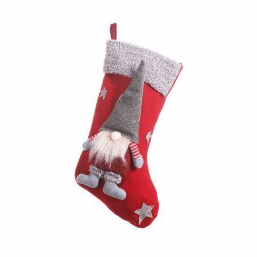 Christmas Stockings Sock Xmas Candy Gift Bag Swedish Gnome Santa Hanging Pendant