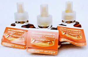 3 Yankee Candle Scentplug GOLDEN CHESTNUT Plug In Wall Diffuser Oil Refills
