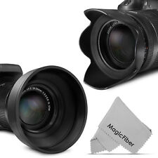58MM Lens Hood for Canon 18-55mm (2 pieces) Petal Flower & Rubber Collapsible