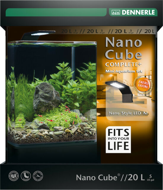 dennerle nano cube 20l complete plus aquarium with substrate 11w