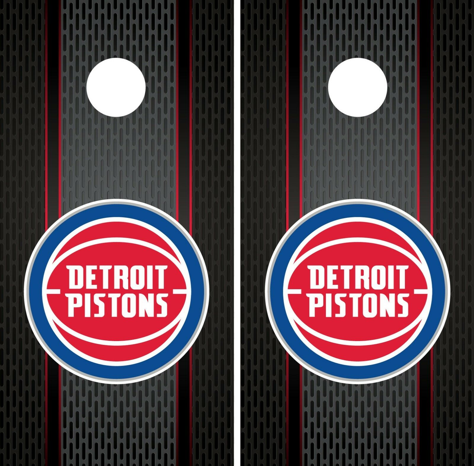 Detroit Pistons Cornhole Wrap NBA Game Board Skin Set Vinyl Decal Art CO603